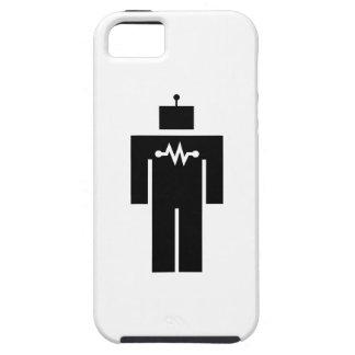 Caso del iPhone 5 del pictograma del robot iPhone 5 Case-Mate Cobertura