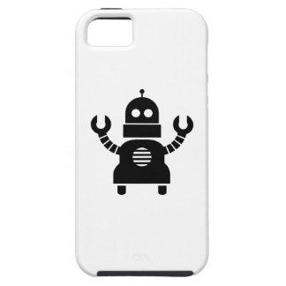 Caso del iPhone 5 del pictograma del robot iPhone 5 Funda