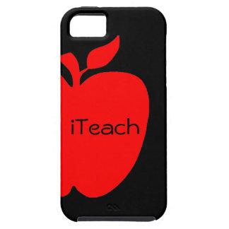Caso del iPhone 5 del profesor rojo y negro de App iPhone 5 Carcasas