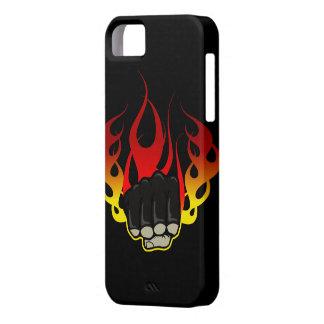 Caso del iphone 5 del puño del fuego iPhone 5 cárcasas