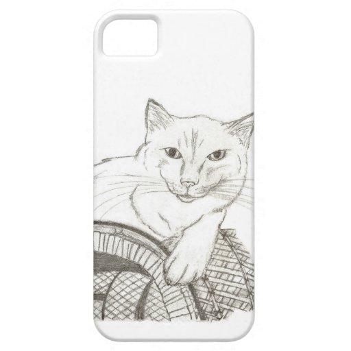Caso del iPhone 5 del retrato de Ragdoll del gato iPhone 5 Protector