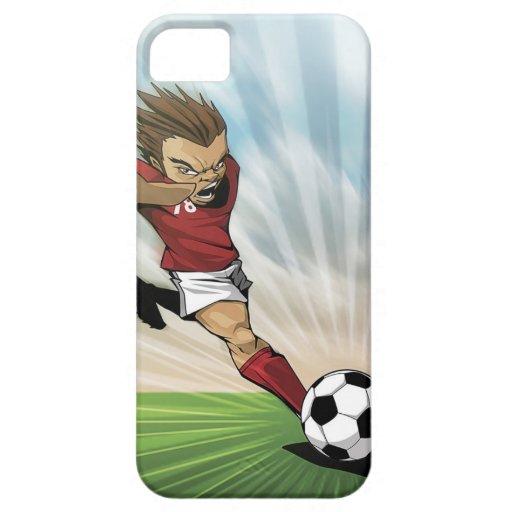 Caso del iPhone 5 del retroceso del fútbol iPhone 5 Case-Mate Cárcasa