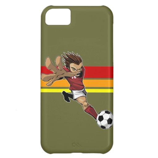 Caso del iphone 5 del retroceso del fútbol funda para iPhone 5C