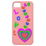 Caso del iPhone 5 del rosa del amor de los corazon iPhone 5 Case-Mate Cárcasa