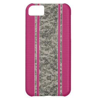 Caso del iPhone 5 del rosa y de Camo - Camo y raya
