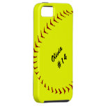 Caso del iPhone 5 del softball de Fastpitch iPhone 5 Case-Mate Fundas