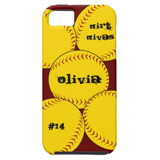 Caso del iPhone 5 del softball de Fastpitch iPhone 5 Case-Mate Cárcasa