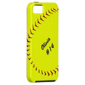 Caso del iPhone 5 del softball de Fastpitch Funda Para iPhone 5 Tough