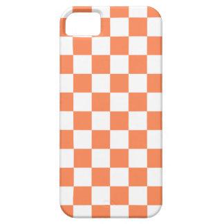 Caso del iPhone 5 del tablero de damas en naranja Funda Para iPhone SE/5/5s