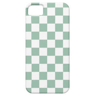 Caso del iPhone 5 del tablero de damas en verde de iPhone 5 Case-Mate Protectores