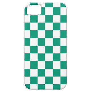 Caso del iPhone 5 del tablero de damas en verde es iPhone 5 Protector