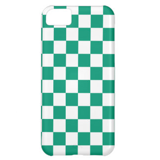 Caso del iPhone 5 del tablero de damas en verde es