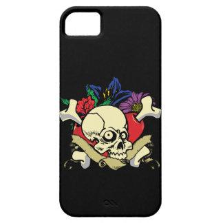 Caso del iPhone 5 del tatuaje de la flor del iPhone 5 Case-Mate Cárcasas