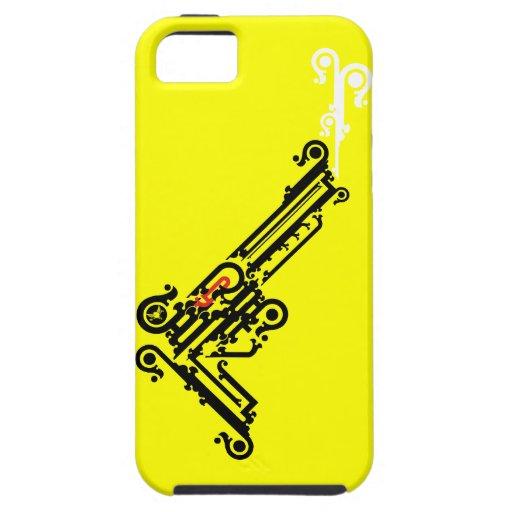 Caso del iPhone 5 del tatuaje del arma Funda Para iPhone SE/5/5s