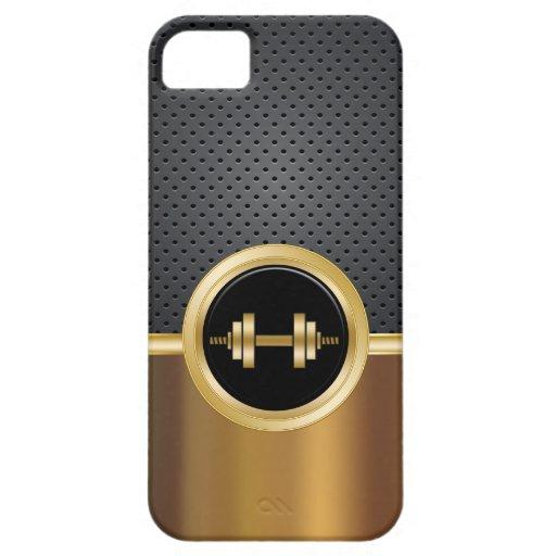 Caso del iPhone 5 del tema de Buillding del cuerpo iPhone 5 Protectores