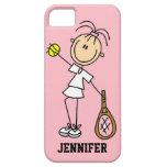 Caso del iPhone 5 del tenis de las mujeres de enca iPhone 5 Protectores