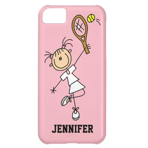 Caso del iPhone 5 del tenis de las mujeres de enca Funda Para iPhone 5C