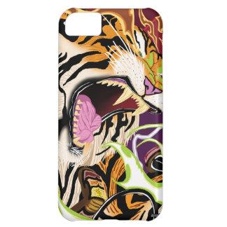 Caso del iPhone 5 del tigre
