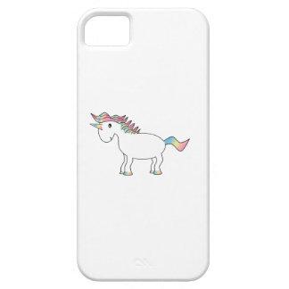 Caso del iphone 5 del unicornio del arco iris funda para iPhone 5 barely there