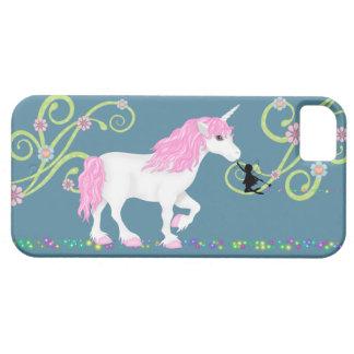 Caso del iPhone 5 del unicornio y de la hada iPhone 5 Fundas