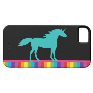Caso del iPhone 5 del unicornio y del arco iris iPhone 5 Fundas