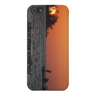 Caso del iPhone 5 del vaquero del agua salada iPhone 5 Cárcasas