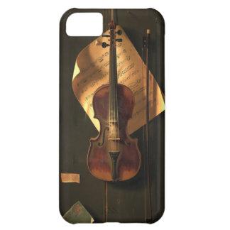 Caso del iPhone 5 del vintage del violín de la mús Carcasa iPhone 5C