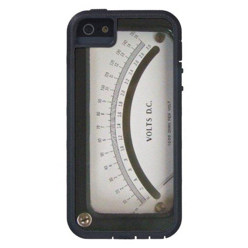 Caso del iPhone 5 del voltímetro del vintage iPhone 5 Case-Mate Cárcasa