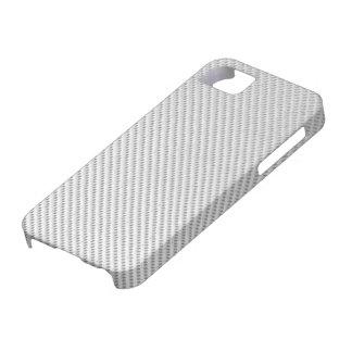 caso del iPhone 5 - fibra de carbono - blanco metá iPhone 5 Carcasas