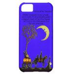 caso del iphone 5, Halloween, brujas, negro, gato,