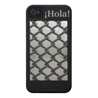¡caso del iPhone 5 - ¡Hola! - Industrial negro iPhone 4 Case-Mate Coberturas
