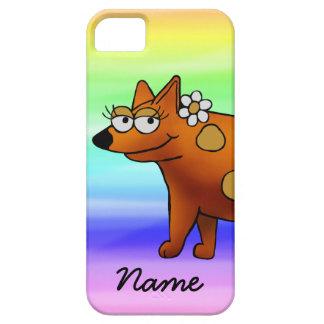 caso del iPhone 5, perro lindo del dibujo animado, iPhone 5 Case-Mate Carcasa
