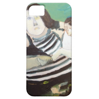 caso del iPhone 5 -- pintura de la madre y de la h iPhone 5 Cárcasas
