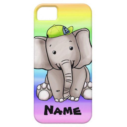 caso del iPhone 5, plantilla linda del nombre del iPhone 5 Carcasa