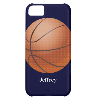 caso del iPhone 5c, baloncesto, azul, personalizad