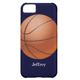 caso del iPhone 5c, baloncesto, azul, personalizad Funda Para iPhone 5C