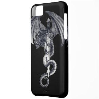 Caso del iPhone 5C Barely There del dragón y de la