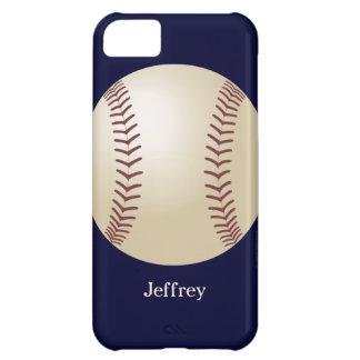 caso del iPhone 5c, béisbol, azul, personalizado Funda Para iPhone 5C