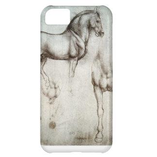 caso del iPhone 5C con el dibujo del caballo de la