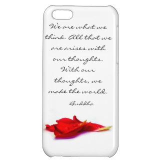 Caso del iPhone 5C de la cita de Buda del mundo de