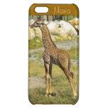 Caso del iPhone 5c de la jirafa del bebé