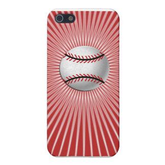 Caso del iPhone 5C del béisbol (rojo) iPhone 5 Carcasa