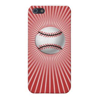 Caso del iPhone 5C del béisbol (rojo) iPhone 5 Fundas