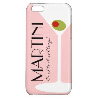 Caso del iPhone 5C del cóctel de Martini - rosa