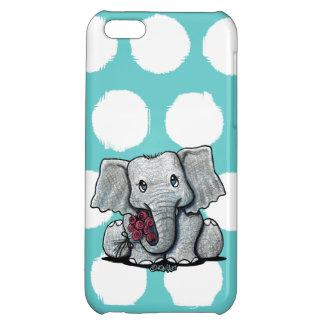 Caso del iPhone 5C del elefante de KiniArt