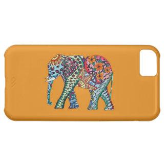 Caso del iPhone 5C del elefante de la acuarela