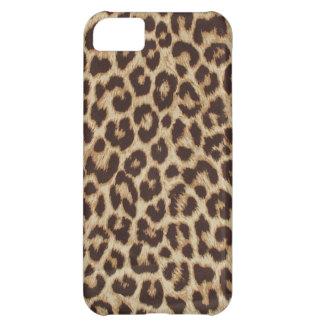 Caso del iPhone 5C del estampado leopardo