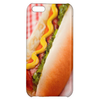 Caso del iPhone 5C del perrito caliente