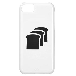 Caso del iPhone 5C del pictograma del pan