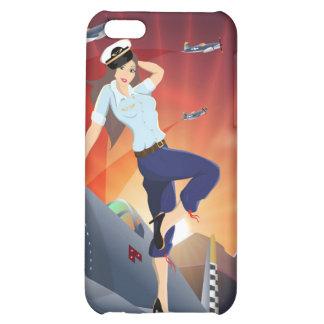 Caso del iPhone 5C del Pin-Para arriba de